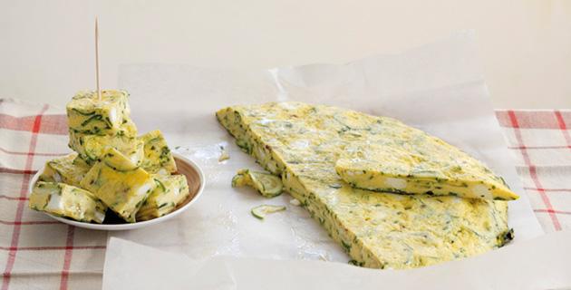 Zucchini-Frittata –  mit Schafskäse überbacken