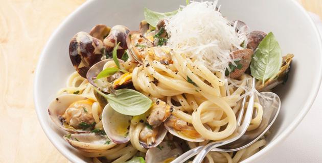 Spaghetti alle Vongole – mit Venusmuscheln