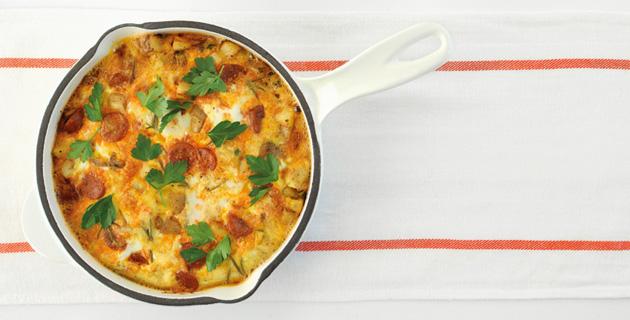 Frittata mit iberischer Chorizowurst und Kartoffeln