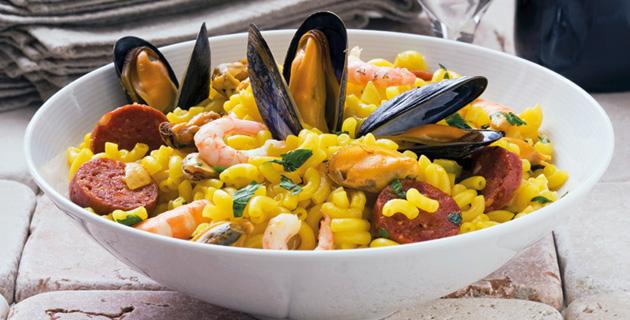 Makkaroni-Paella – Meeresfrüchte mal anders