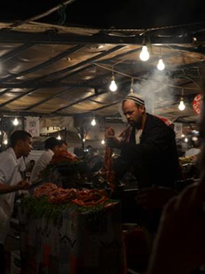 Marktstand auf dem Djemaa el-Fna