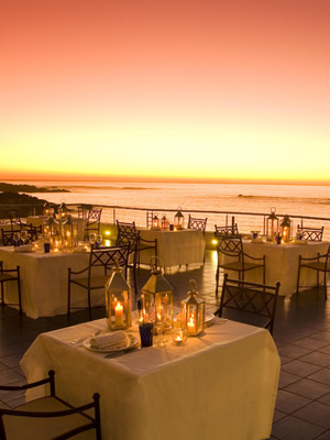 Blick von der Terrasse des Gourmetrestaurants Azure im The Twelve Apostels