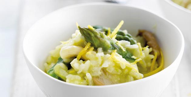 Risotto mit Spargel, Champignons und Parmesan