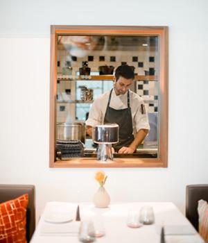 Die Gäste haben stets Einblick in die Küche