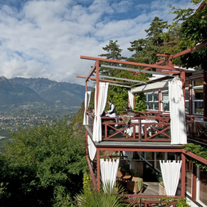 Die Terrasse bietet einen sagenhaften Panoramablick