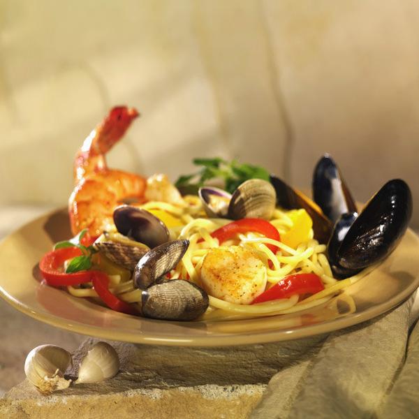 Spaghetti mit frischen Meeresfrüchten - Das ist Urlaubsfeeling pur!