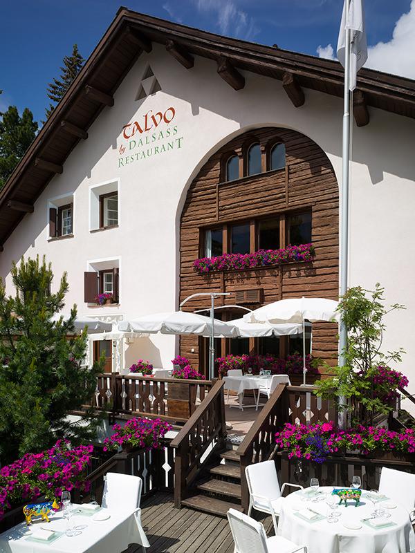 Die Aussenansicht des Restaurant Talvo