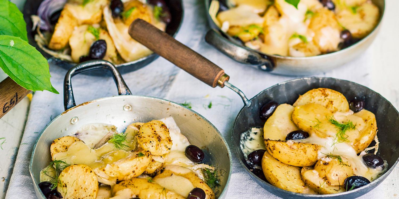 Mediterranes, vegetarisches Raclette vom Grill