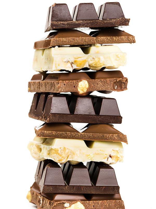Zahlreiche Schokoladensorten - die Kombinationsmöglichkeiten sind vielfältig