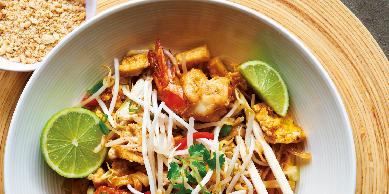 Pad Thai – Reisnudeln mit Koriander und Garnelen
