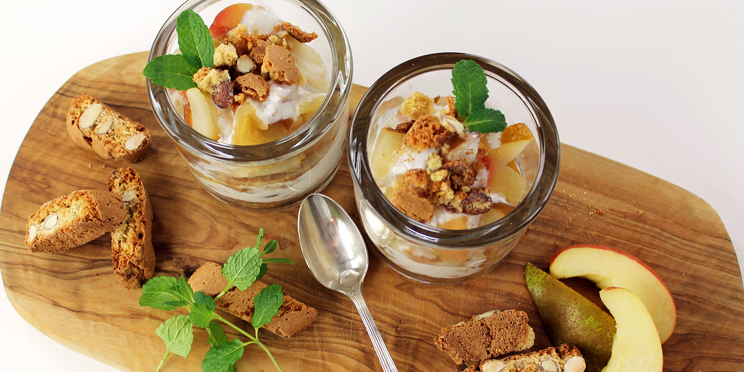 Step-by-Step: Apfel-Birnen-Quark mit Cantuccini